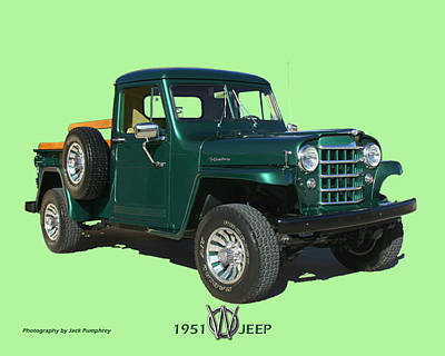 Photograph - 1951 Willys Jeep Pick Up Truck by Jack Pumphrey