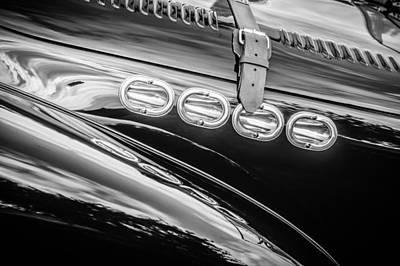 Photograph - 1952 Allard K2 Hood -0600bw by Jill Reger