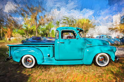 1952 Chevrolet 3100 Series Pick Up Truck Painted  Art Print by Rich Franco