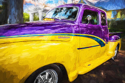 1952 Chevrolet 3100 Series Pick Up Truck X Cab Painted  Art Print by Rich Franco