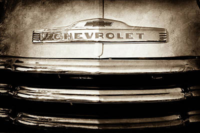 1952 Chevrolet Emblem -0231s Art Print