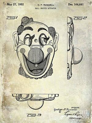 1952 Clown Light Switch Patent  Art Print