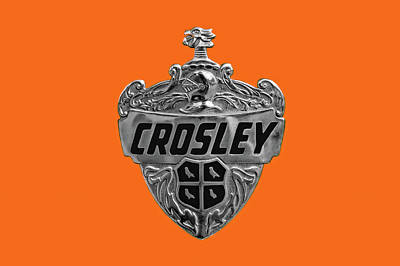 Photograph - 1952 Crosley Super Station Wagon Hood Badge  -  52crosleybadge9684 by Frank J Benz