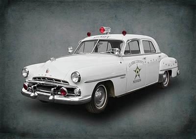 Police Car Digital Art - 1952 Dodge Clark County Nevada Sheriff by Daniel Hagerman
