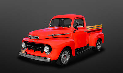 Photograph - 1952 Ford F-1 Pickup Truck  -  52fdtr880 by Frank J Benz