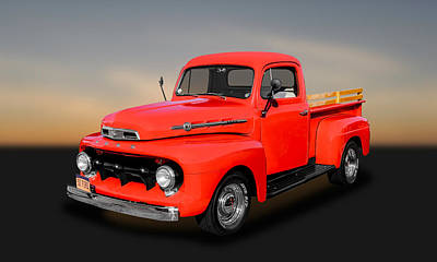 Photograph - 1952 Ford F-1 Pickup Truck  - 52fdtrk980 by Frank J Benz