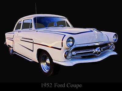 Digital Art - 1952 Ford Mainline Coupe by Chris Flees