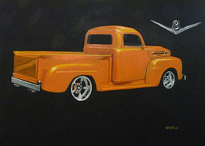 Painting - 1952 Ford Pickup Custom by Richard Le Page