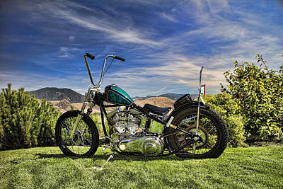 Photograph - 1951 Harley Davidson Motorcycle Chopper by David Smith