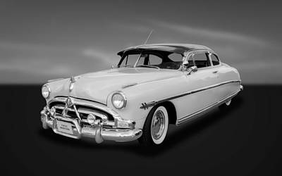 Photograph - 1952 Hudson Hornet 2-door Sedan  -  Hudbw33 by Frank J Benz