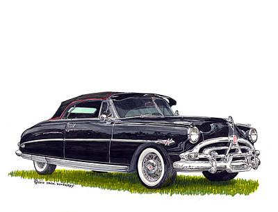 1952 Hudson Hornet Convertible Art Print by Jack Pumphrey
