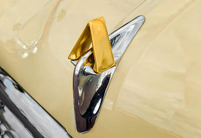 Photograph - 1952 Hudson Hornet Hood Ornament  -  Hudorn112 by Frank J Benz