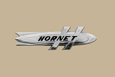 Photograph - 1952 Hudson Hornet Trunk Badge/emblem  by Frank J Benz