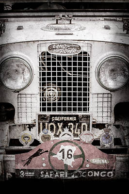 Land Rover Photograph - 1952 Land Rover 80 Grille -1003ac by Jill Reger