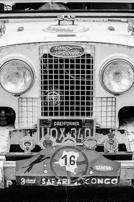 Land Rover Photograph - 1952 Land Rover 80 Grille -1003bw by Jill Reger