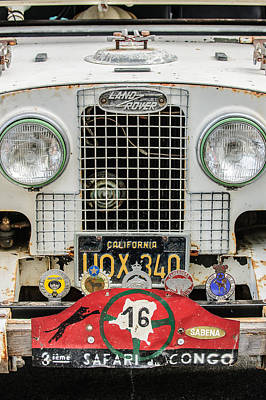 Land Rover Photograph - 1952 Land Rover 80 Grille -1003c by Jill Reger
