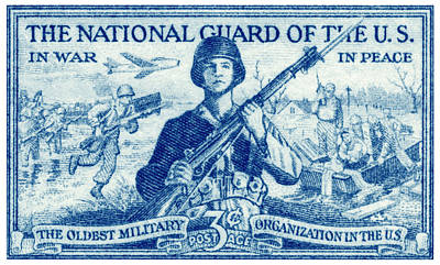 Painting - 1952 National Guard Stamp by Historic Image