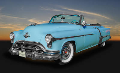 Photograph - 1952 Oldsmobile 98 Convertible by Frank J Benz