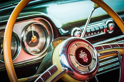 Photograph - 1952 Packard 400 Steering Wheel -0598c by Jill Reger