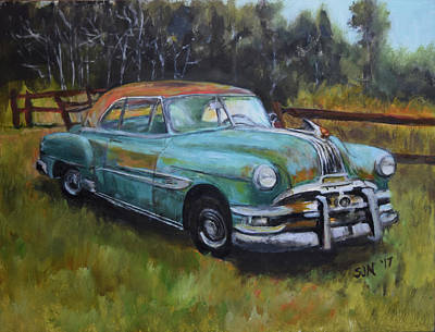 Painting - 1952 Pontiac Chieftain  by Sandra Nardone