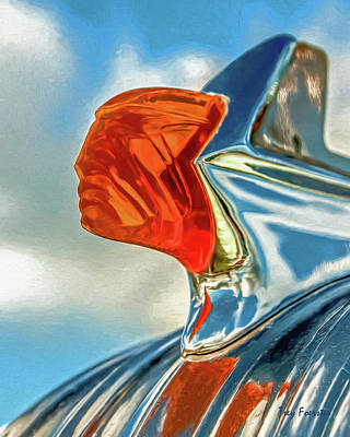 Photograph - 1952 Pontiac Deluxe Hood Ornament by Trey Foerster