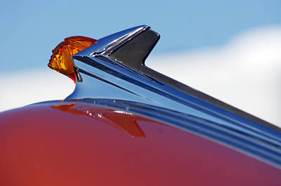 1952 Pontiac Tin Woodie Wagon Hood Ornament Art Print by Jill Reger