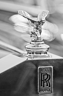 Car Photograph - 1952 Rolls-royce Silver Wraith Hood Ornament 2 by Jill Reger
