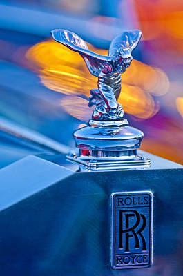 Hoodies Photograph - 1952 Rolls-royce Silver Wraith Hood Ornament by Jill Reger