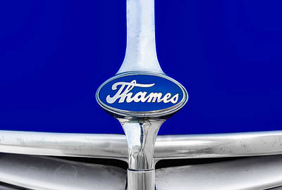 Photograph - 1952 Thames Panel Truck Hood Ornament  -  52thamhdorn89 by Frank J Benz