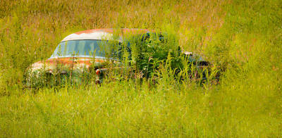 Photograph - 1953 Buick Roadmaster In September Field by Greg Jackson