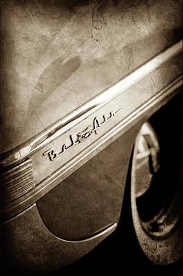 Chevy Bel Air Photograph - 1953 Chevrolet Bel Air Emblem -641s by Jill Reger