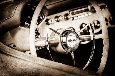 Photograph - 1953 Chevrolet Corvette Steering Wheel Emblem -1400s by Jill Reger