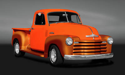 Photograph - 1953 Chevrolet Pickup Truck, 3100 Series  -  1953chevy3100pickupgry183673 by Frank J Benz