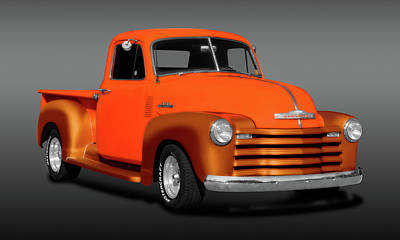Photograph - 1953 Chevrolet Pickup Truck, 3100 Series  -  1953chevy3100pickuptruckfa183673 by Frank J Benz