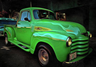 Photograph - 1953 Chevy 3100 Pickup by Thom Zehrfeld