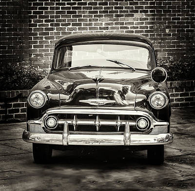 Photograph - 1953 Chevy Belair Police Car by Gary Slawsky