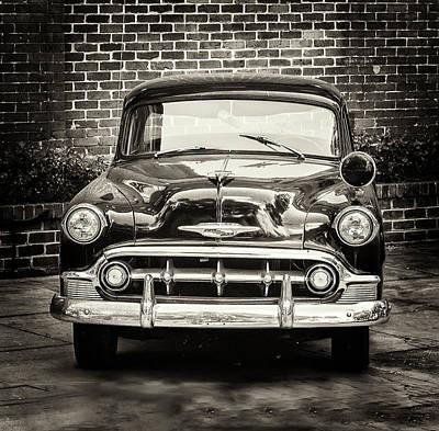 Photograph - 1953 Chevy Belair Police Car by Gary Slawsky