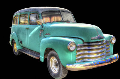 Photograph - 1953 Chevy Wagon by Donna Kennedy