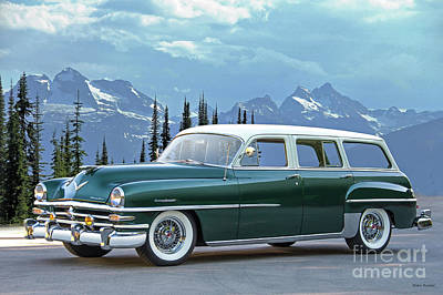 Bath Time Rights Managed Images - 1953 Chrysler Town and Country Wagon Royalty-Free Image by Dave Koontz