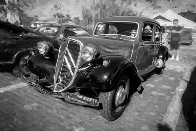 1953 Citroen Traction Avant Bw Art Print by Rich Franco