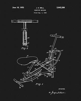 Drawing - 1953 Exercise Apparatus Patent by Dan Sproul