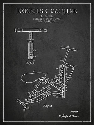 Weightlifting Wall Art - Digital Art - 1953 Exercising Device Patent Spbb07_cg by Aged Pixel