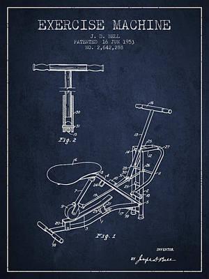 1953 Exercising Device Patent Spbb07_nb Art Print