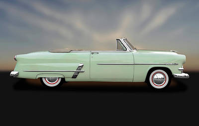 Photograph - 1953 Ford Customline Sunliner   -   1953fordcustomlinecv170649 by Frank J Benz