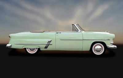 Ford Customline Photograph - 1953 Ford Customline Sunliner   -   1953fordcustomlinecv170649 by Frank J Benz