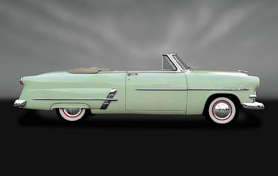 Photograph - 1953 Ford Customline Sunliner   -   1953fordcustomsunlinergry170649 by Frank J Benz
