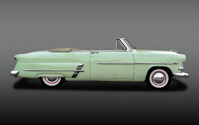 Photograph - 1953 Ford Customline Sunliner  -  1953fordshoeboxcvfa170649 by Frank J Benz