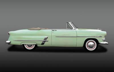 Ford Customline Photograph - 1953 Ford Customline Sunliner  -  1953fordshoeboxcvfa170649 by Frank J Benz