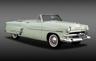 Photograph - 1953 Ford Customline Sunliner 2 Door Convertible   -   1953fordcustomlinecvfa170651 by Frank J Benz