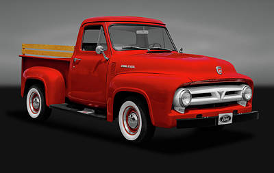 Photograph - 1953 Ford F-100 Pickup Truck   -   1953f100fordtruckgry170472 by Frank J Benz
